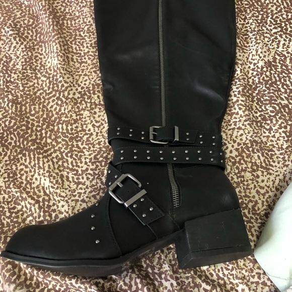 70b053226782 Torrid Wide Motorcycle boots
